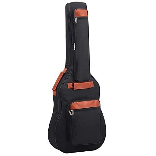 St.Oswalds Waterproof 41 42 Inch Acoustic Guitar Bag Extra Thick Padding Guitar Case Gig Bag Lightweight Multi-pockets Soft Guitar Backpack Case with Shoulder Strap