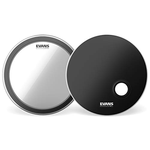 Batter Bass Drumhead and Resonant Drumhead Evans EMAD System Pack
