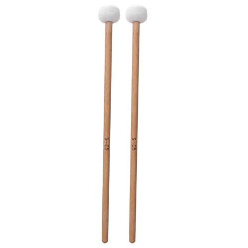 2Pcs Snare Drum Timpani Stick Mallet Soft Felt Mallet