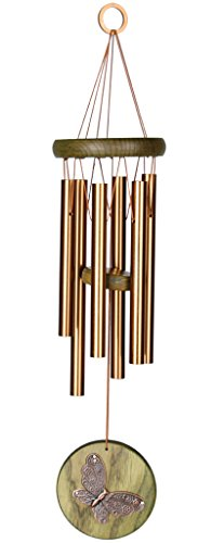 Woodstock Chimes HCGB The Original Guaranteed Musically Tuned Chime Habitats-Butterfly, Green