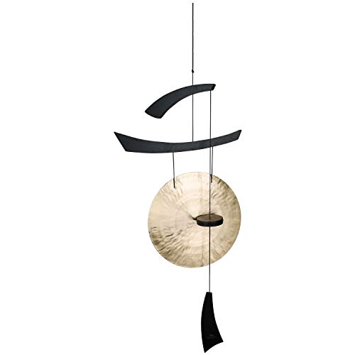 Woodstock Chimes EGCLB Original Guaranteed Musically Tuned Chime Emperor Gong, Large, Black