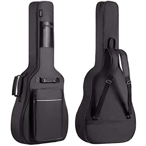 Acoustic Guitar Gig Bag 0.5in Extra Thick Sponge Overly Padded Waterproof Guitar Case