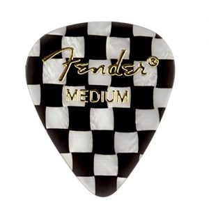 Fender 351 Shape Graphic Picks (12 Pack) for electric guitar, acoustic guitar, mandolin,