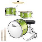 3-Piece Kids/Junior Drum Set with Throne