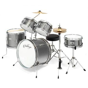 5-Piece Complete Kid's Junior Drum Set with Genuine Brass Cymbals