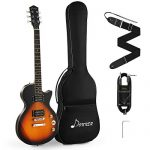 Electric Guitar Kit Sunburst Yellow, with Bag, Strap, Cable