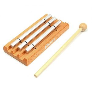Meditation Trio Chime, Ehome Solo Percussion Instrument with Mallet for Prayer, Yoga, Eastern Energies, Musical Chime Toys for Children, Teachers' Classroom Reminder Bell