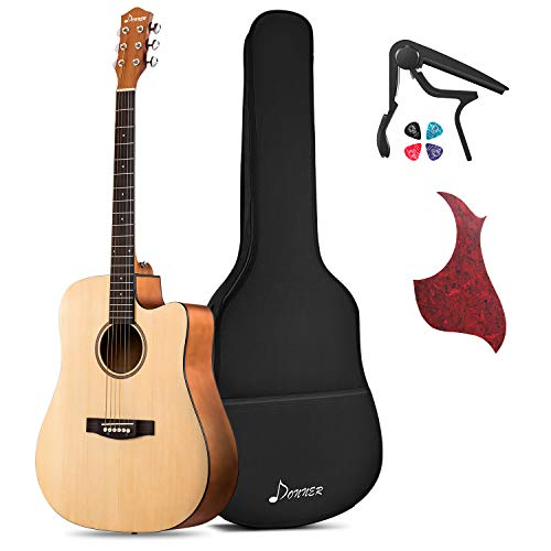 Donner Beginner Acoustic Guitar Full Size