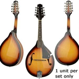 Set of Maple Wood Mandolin with Extra Strings