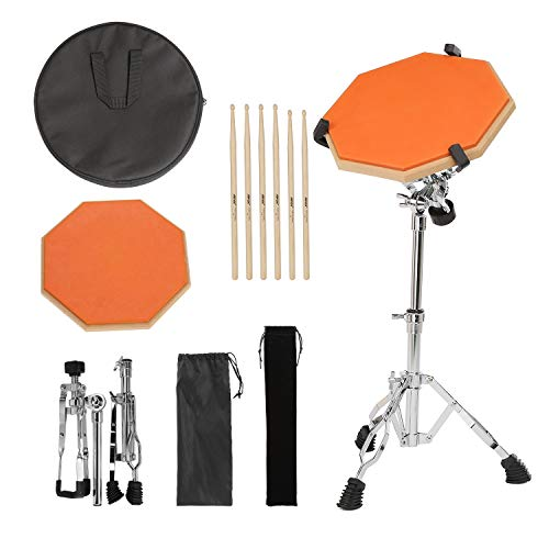 Drum Practice Pads with 3 Pairs of Drum Sticks