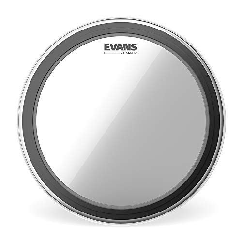 Evans EMAD2 Externally Mounted Adjustable Clear Bass Drum Head