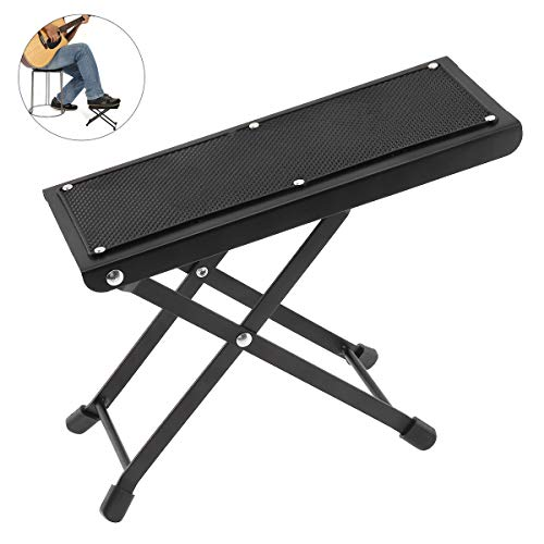 OriGlam Guitar Foot Rest Stool, Height Adjustable Guitar Foot Rest, Anti Slip Guitar Foot Stool Footstool, Strong For Classical Guitar