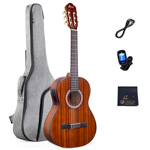 Acoustic Guitar for Beginners Students Kids Build-in Pickup Kit Set