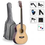 Spruce Acoustic Guitar for Travel Beginners