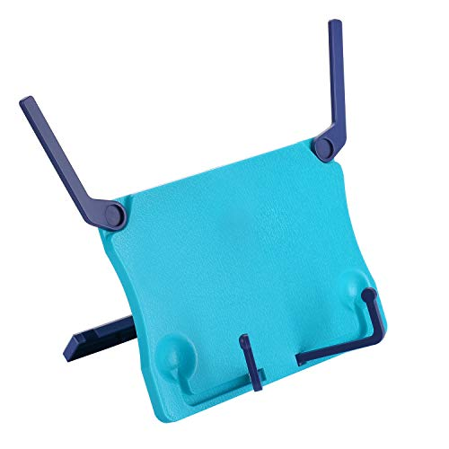 MOREYES Table Music Stand, Book Reading Stand, Portable Foldable for Reading, Music Book, Cook Book,Document (blue)
