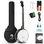 Mahogany Electric Banjo Kit with Resonator