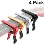 4 Pieces Guitar Capo Aluminum Metal Universal, Acoustic and Classical Electric Guitars