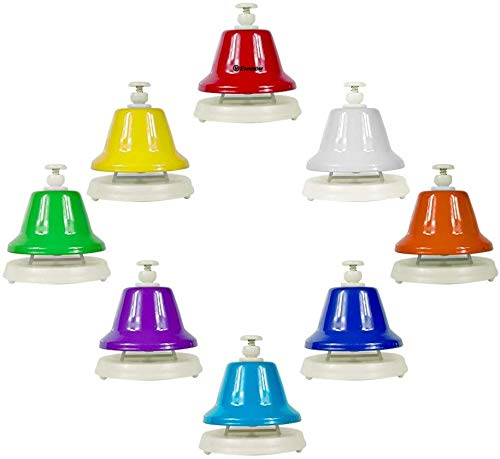 ENNBOM Desk Bells Hand Bells 8 Notes Music Bells Percussion Instrument Musical Teaching Chromatic