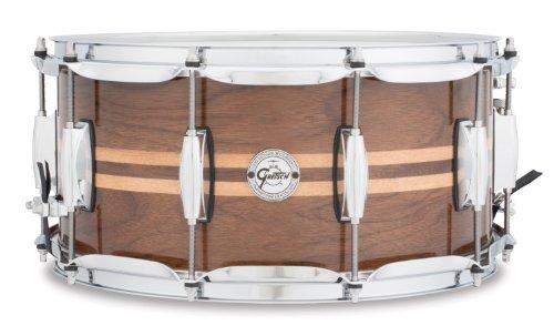 Gretsch Drums Full Range Series Gloss Walnut Snare W/Maple Inlay