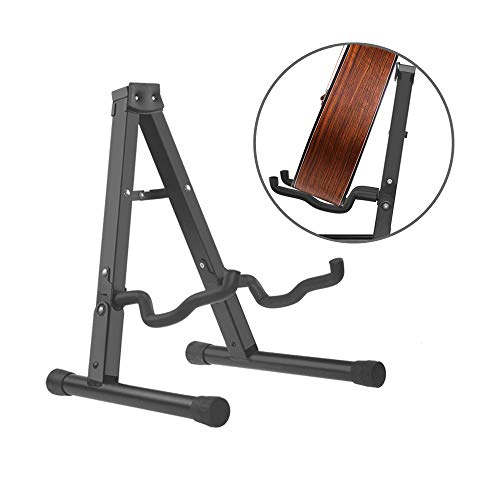 SupYaque Guitar Folding Stand Floor A-Frame for Universal Acoustic and Electric Guitars Bass Guitar Cello Banjo Mandolin Holder Stand