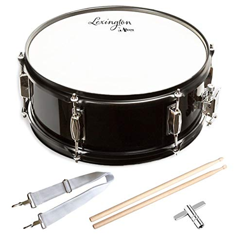 Snare Drum Set Student Steel Shell 14 X 5.5 Inches with 10 Lugs, Includes Drum Key