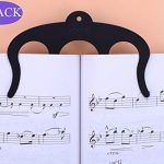 Music Book Clip Page Holder 2Pack Metal Sheet Music Holders for Sheet Music Stands,Pianos,Musicians and Cookbook Reading