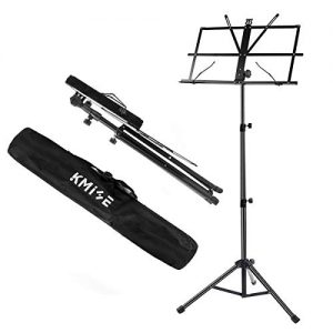 lotmusic Music Sheet Stand Foldable Holder Tripod Base Metal for Student Practice From Kmise