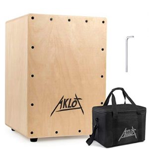 Cajon Percussion Box with Internal Adjustable Snares Birch Wood