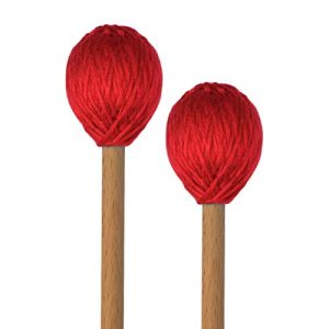 Hard Yarn Head Keyboard Marimba Mallets with Maple Handles