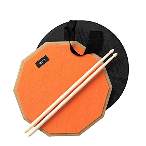 Drum Pad Double Sided with Drumsticks and Drum Bag