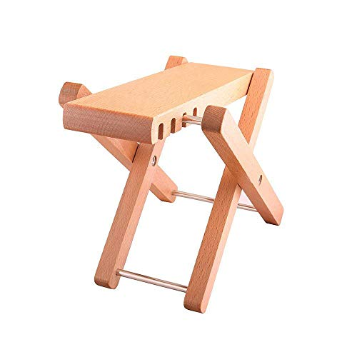 """Timiy Solid Wood Guitar FootStools Adjustable 4 Levels Professional Folding Wood Footstool Pedal Adjustable Footstool from 5"""" up to 8.5"""",For Classical Acoustic Guitar Foot Rest"""