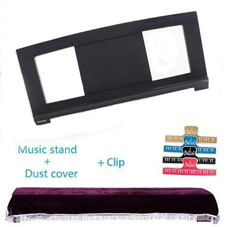 Music Stand Compatible with some Yamaha keyboard Music Score Stand +dust cover (38'x18 ') Sheet Music Stand (+1clip)