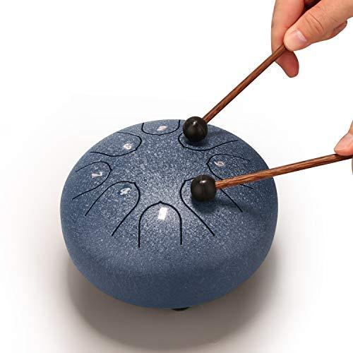 REGIS Tongue Drum 8 Notes 6 Inches Chakra Tank Drum Steel Percussion