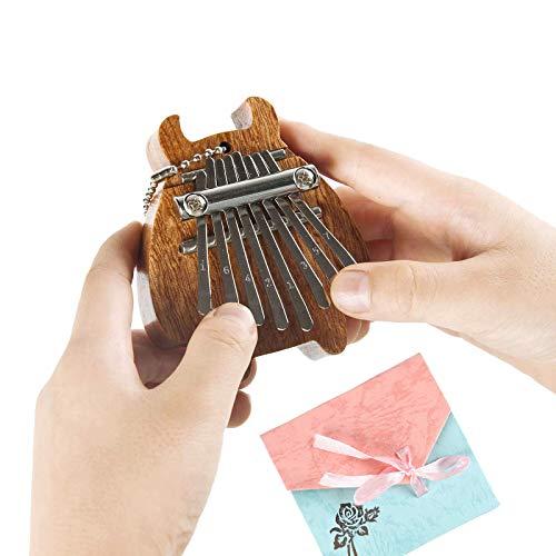8 Keys Mini Kalimba Instrument Finger Thumb Piano Marimba Pendant