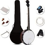 Costzon 5-String Banjo 24 Bracket with Geared 5th tuner