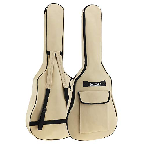 YiPaiSi 40/41 Inch Acoustic Guitar Gig Bag, Waterproof Guitar Case, Soft Guitar Backpack, Padded Dual Shoulder Strap, Oxford Fabric Soft Case Cover Adjustable Bag for Acoustic Classical Guitar