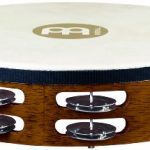 Traditional 10-Inch Wood Tambourine with Goat Skin Head