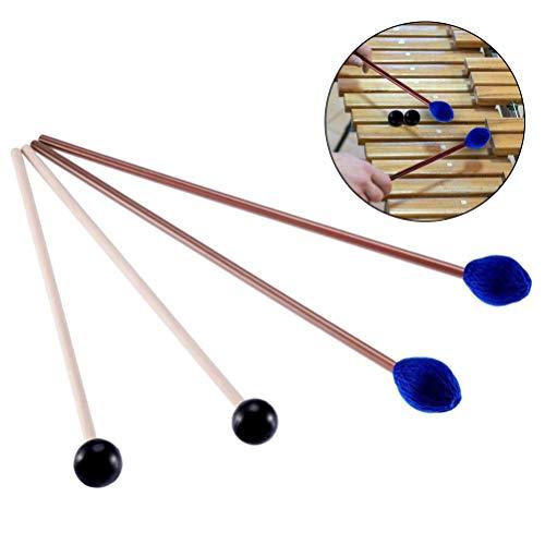 Medium Blue Hard Yarn Marimba Mallets