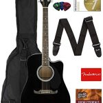 Fender Dreadnought Cutaway Acoustic-Electric Guitar –