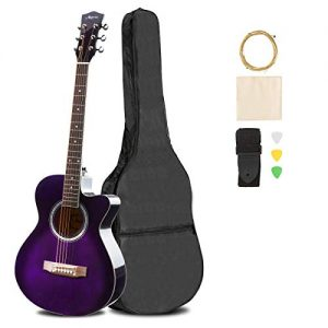 Handmade Solid Wood Acoustic Cutaway Guitar Beginner Kit