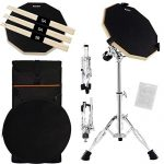 Double Sided Drum Pad with Adjustable Snare Drum Stand