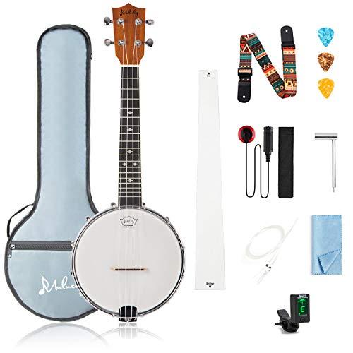 4 String Banjo Ukulele Concert 23 Inch Beginner Kit