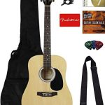 Squier Dreadnought Acoustic Guitar Bundle with Gig Bag, Tuner