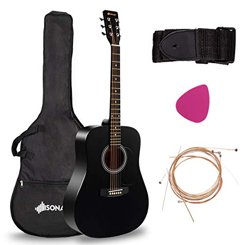 Full Size Beginner Acoustic Guitar, Professional Customization Smooth Mirror