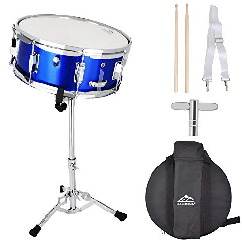 EASTROCK Snare Drum(Blue) Set 14 X 5.5 inch with Backpack