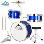 EASTROCK Kids/Junior Drum Set 13 Inch 3 Piece with Adjustable Throne