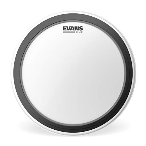 Evans EMAD Coated White Bass Drum Head