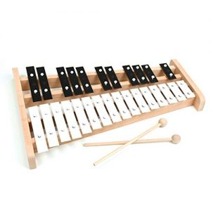 Wooden Alto Full Size Glockenspiel Xylophone with 27 Metal Keys