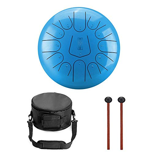 Niome 12 Inch Steel Tongue Drum 13 Notes w/Travel Bag