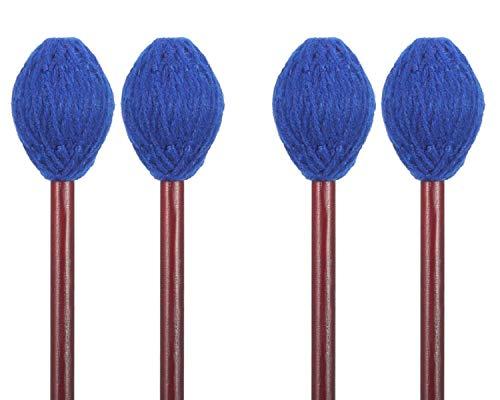 Hard Yarn Head Keyboard Marimba Mallets with Maple Handle